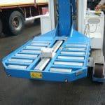 Naklápěcí nakládací stůl s nosností do 25 tun. Pro zvedací zařízení MINIDREL řady S a řady B. Možnost instalace posunovačů