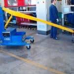 Elektrický jeřáb pro manipulaci s formami v oblasti výroby pneumatikGB150