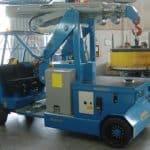 Elektrický jeřáb pro manipulaci s formami v oblasti výroby pneumatikMinidrel 90B_MSR