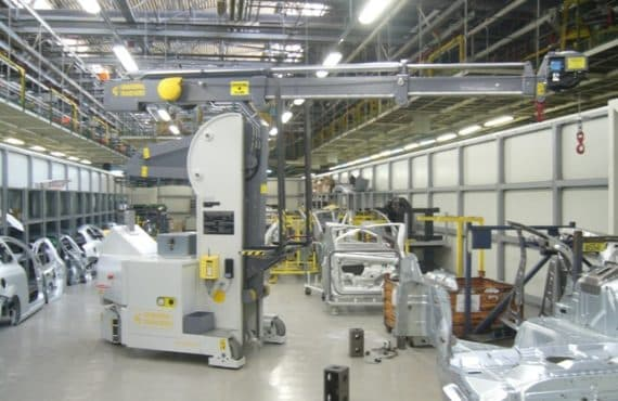 Краны для обработки пресс-форм с Грузоподъемность до 2.500 кг.