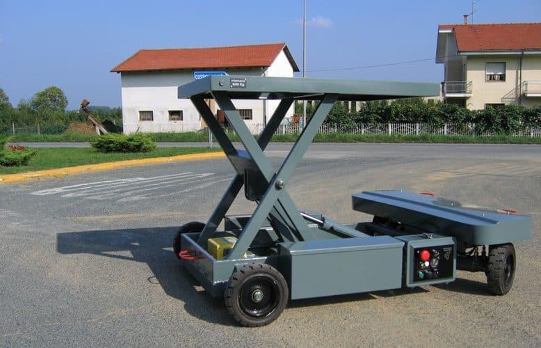 Дистанционно управляемый гидравлический подъемник для работы с грузами в области промышленности и логистики.